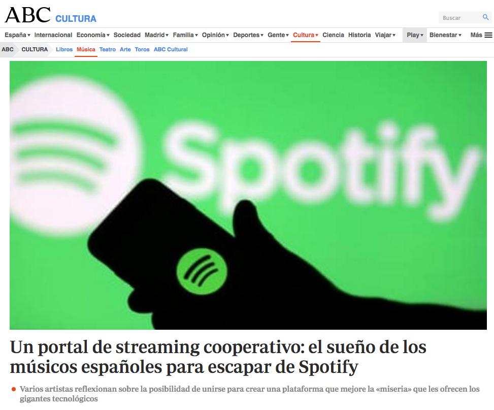 Portada ABC, Spotify