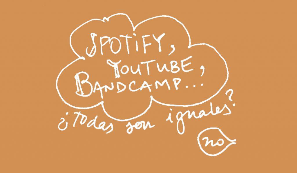 Spotify, YouTube, Bandcamp