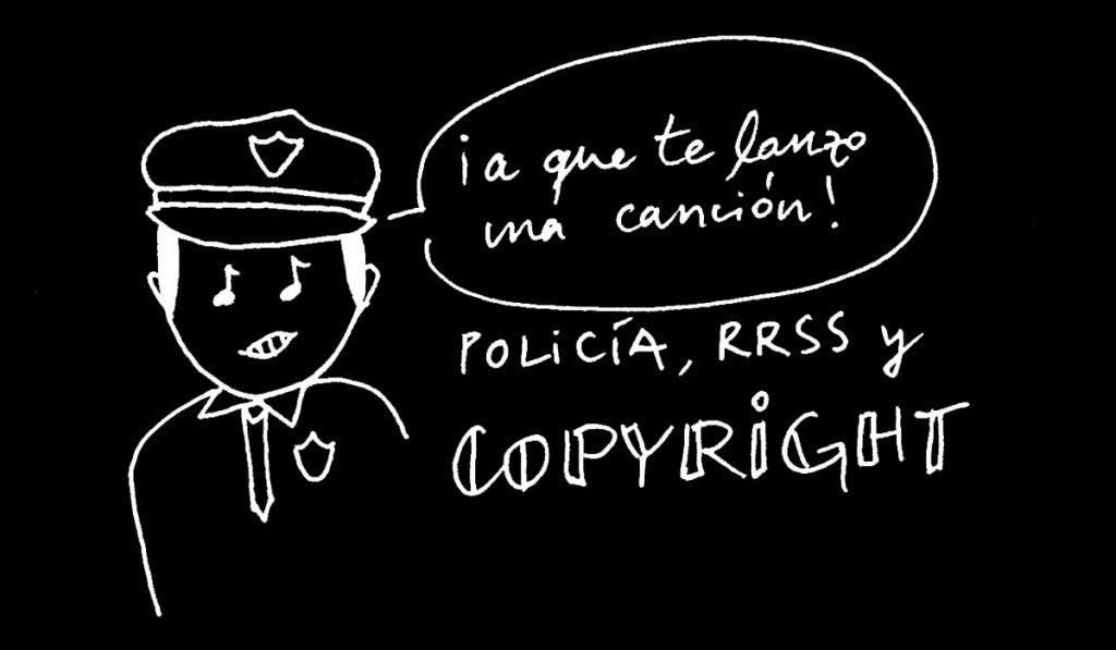 Autoría, policía, redes sociales y copyright