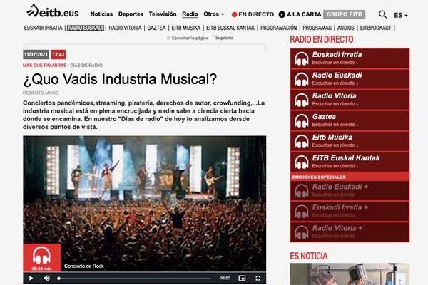 EITB Quo Vadis industria musical