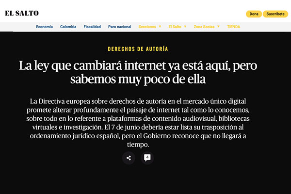 Ley de internet, derechos de autoría