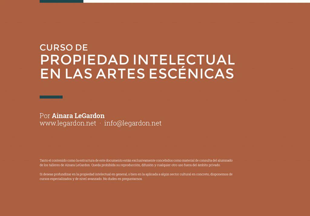 Portada curso Propiedad Intelectual en las artes escénicas